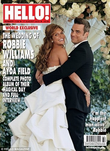 Hello Magazine - Robbie Williams official Wedding चित्र