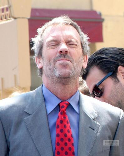 Hugh Laurie on the Hollywood Walk Fame