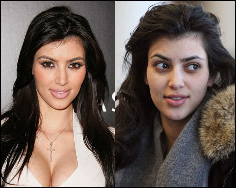 I wanna see Kim without make-up,JB likes natural girls,but she has a lot of make-up on her face.