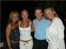 IN MARBELLA CLUB WHITH ANTONIO BANDERAS