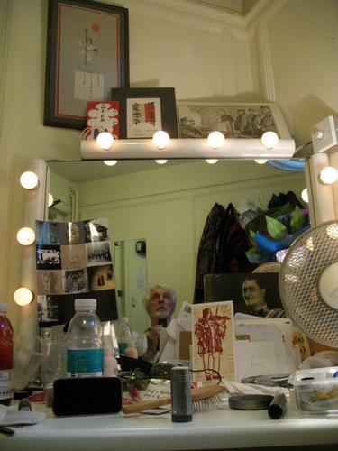 In his dressingroom