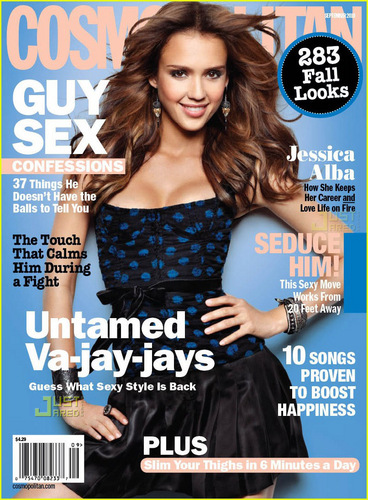 Jessica Alba Covers 'Cosmopolitan' September 2010
