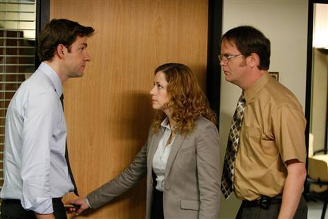 Jim, Dwight and Pam