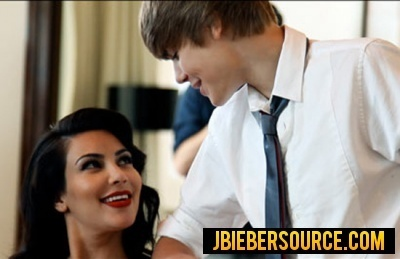 Justin bieber and kim kardashian elle magazine shoot