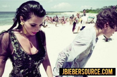 Justin bieber and kim kardashian elle magazine shoot