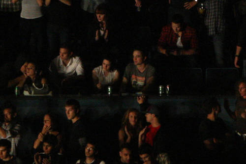 Kellan, Nikki, and Cast at 'Kings of Leon' concert