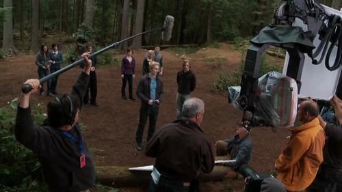 Kellan and Nikki filming 'Eclipse'