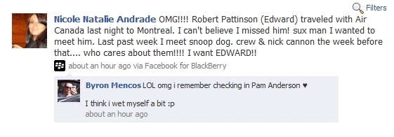 Rob Spotted Last Night Going to Canada?