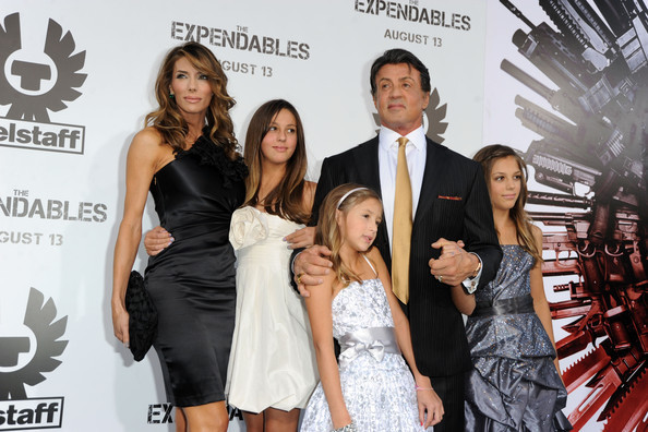 Sylvester Stallone with his wife and kids - The ...