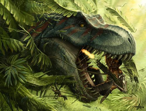 Terminator wallpaper called T-rex vs T800