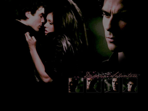 ویژن ٹیلی پیپر وال entitled VAMPIRE DIARIES,DAMON ELENA!!!!!!!!!!!!!!!