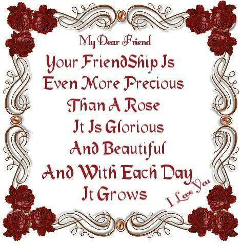 Your friendship is so special to me Berni x