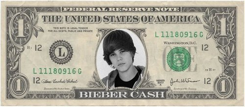 bieber money!!! $$$$