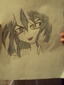 my drawing of yami bakura