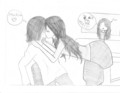 my drawing of tori and beck kissing - victorious photo