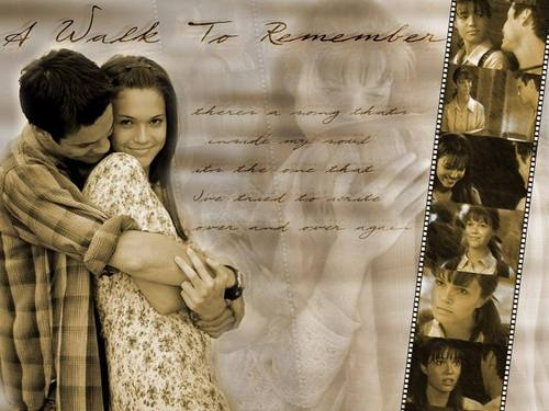 Nur mit Dir - A Walk to Remember Hintergrund possibly containing a sign entitled A walk to remember<3