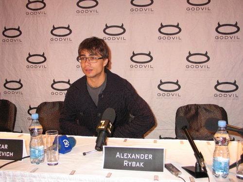 AR in Riga in Godvil club. Press conference