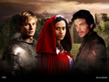 Arthur, Gwen & Lancelot  - merlin-on-bbc wallpaper