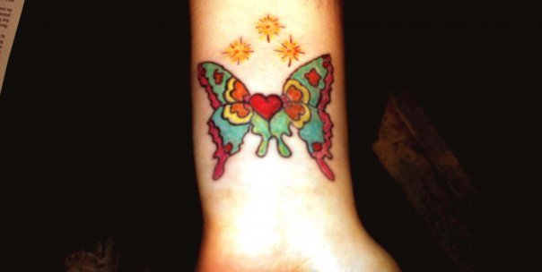 Tattoos Butterfly/Heart/Stars