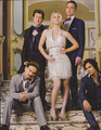 Jim and Kaley (with the rest of TBBT cast) on Watch Magazine (scans) - jim-parsons-and-kaley-cuoco photo