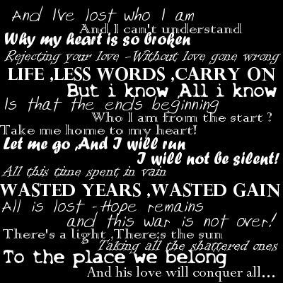 "Lyrics from ""Shattered"""