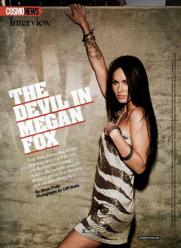 Megan Fox, Cosmopolitan (October 2009)