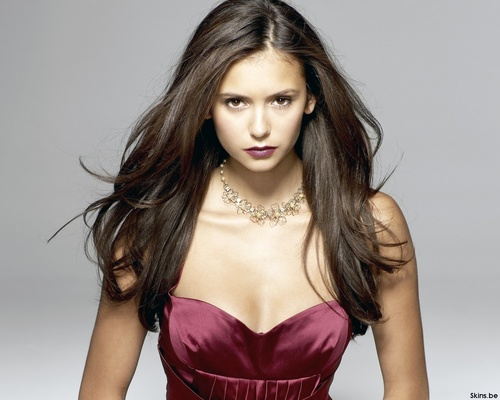 The Vampire Diaries wallpaper possibly containing a cocktail dress, a bustier, and attractiveness entitled Nina Dobrev