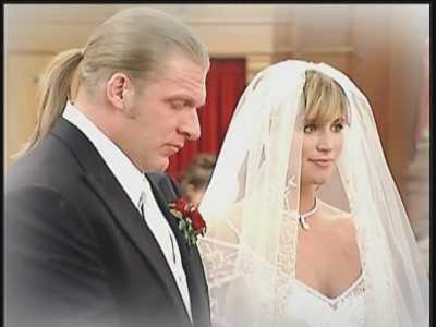Triple H and Stephanie Mcmahon wallpaper possibly with a business suit and a bridesmaid entitled Real-Life Wedding Pictures