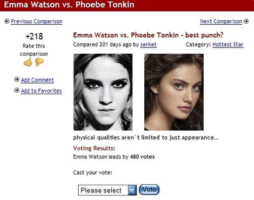 Vote for Emma on whosdatedwho.com