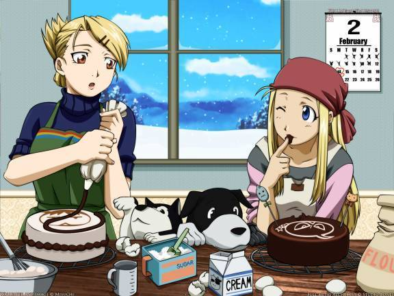 hawkeye and winry - fullmetal-alchemist-manga photo