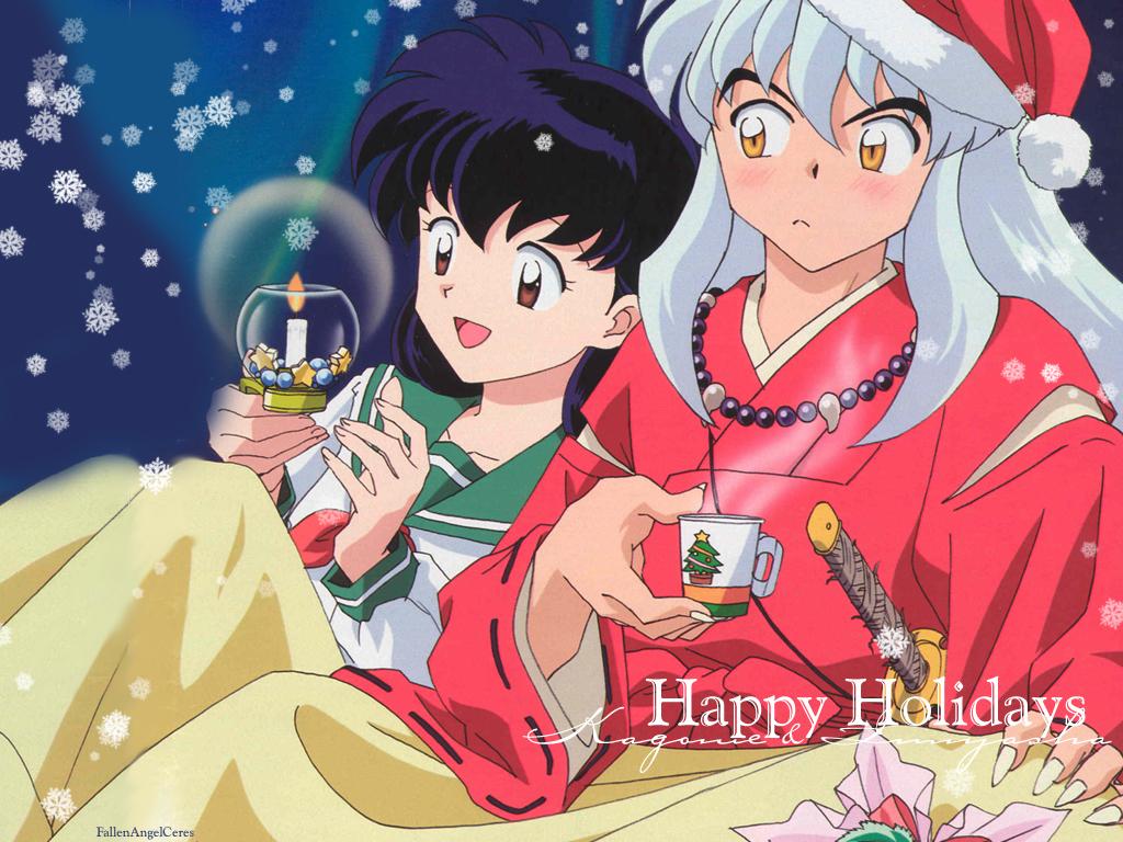 Inuyasha Christmas Inuyasha Wallpaper 8571558 Fanpop