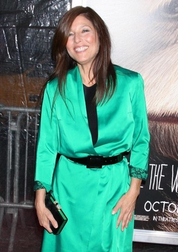 Where The Wild Things Are hình nền containing a trench áo, áo khoác called 'Where The Wild Things Are' Premiere in New York on October 13, 2009: Catherine Keener