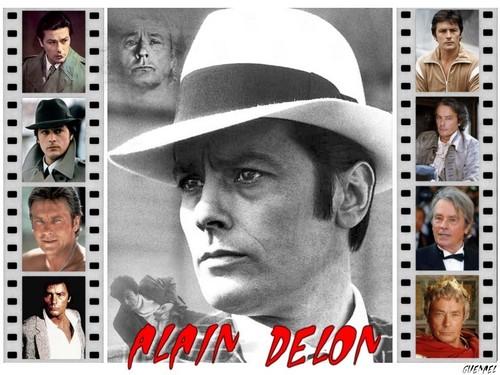 Alain Delon wallpaper containing a fedora and a boater entitled Alain Delon