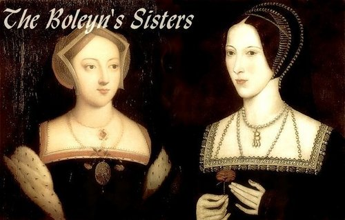 Anne Boleyn پیپر وال probably containing attractiveness, a mantilla, and a کاک, کاکٹیل dress entitled Anne and Mary