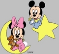 Baby Mickey Mouse and Minnie Mouse
