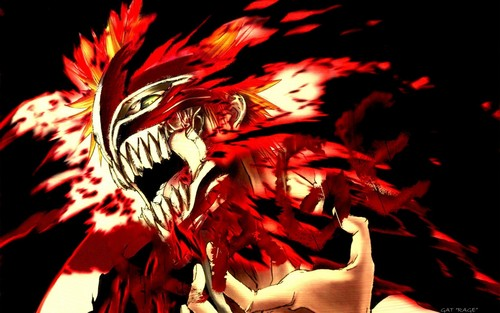 anime bleach wallpaper probably with a triceratops titled Bleach Pics: hollow Ichigo