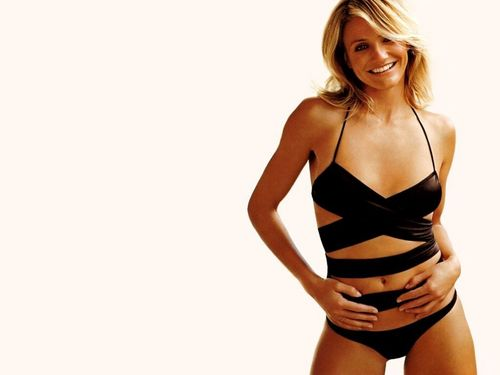 Cameron Diaz wallpaper probably with a bustier, attractiveness, and a maillot entitled Cameron Diaz