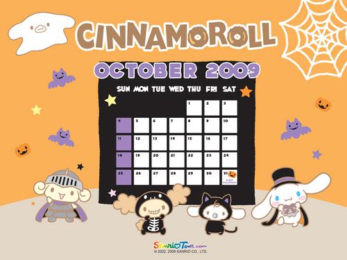 Cinnamoroll October Halloween پیپر وال