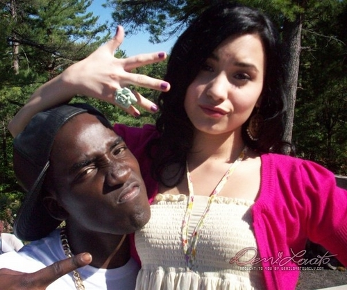 Demi on the set of 'Camp Rock 2'