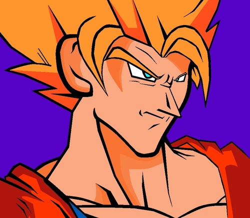 dragon ball z wallpaper containing anime entitled goku SSJ2
