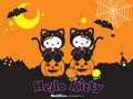Hello Kitty Halloween Hintergrund