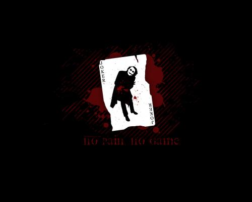 Joker Card - No pain, no game