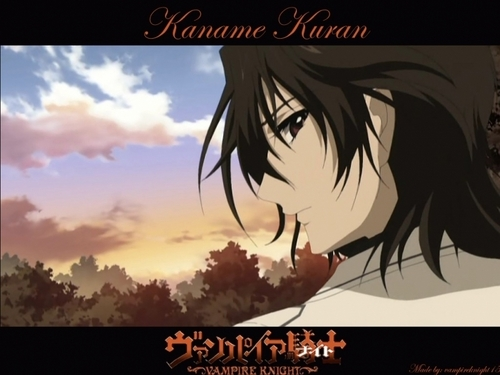 Kuran Kaname Обои with a sunset and Аниме called Kaname