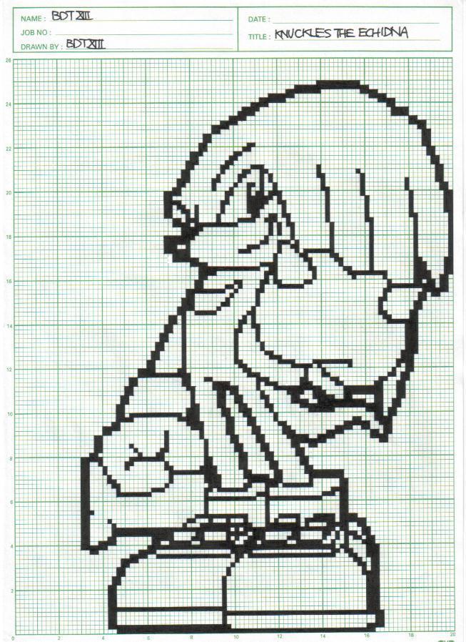 Knuckles in pixel