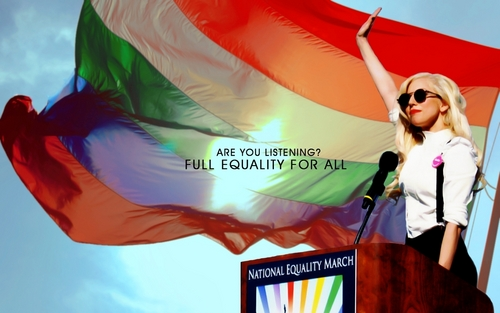 Lady Gaga; National Equality March 2009 - lgbt Wallpaper