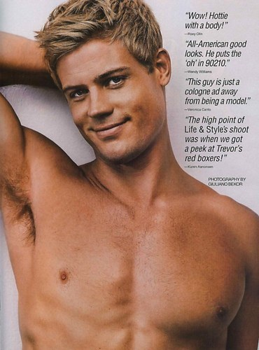 Trevor Donovan wallpaper containing a hunk and skin called Life and Style, October 26, 2009
