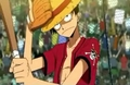 Luffy Playing Baseball