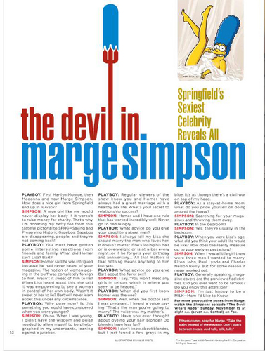 os simpsons wallpaper entitled Marge's playboy Interview
