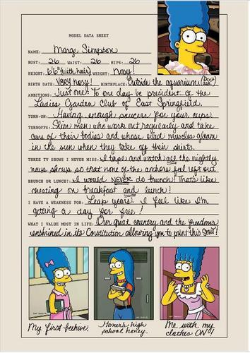 The Simpsons پیپر وال probably with عملی حکمت entitled Marge's Playboy Interview