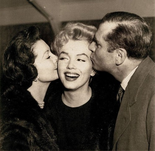 Marilyn with Vivien Leigh and Laurence Olivier